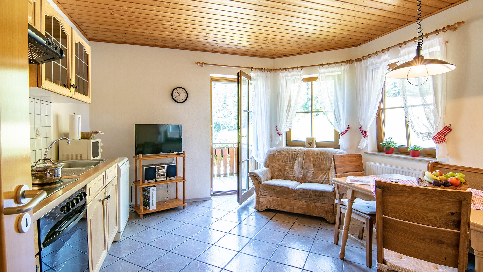 Ferienwohnung Moosblick Wohnküche